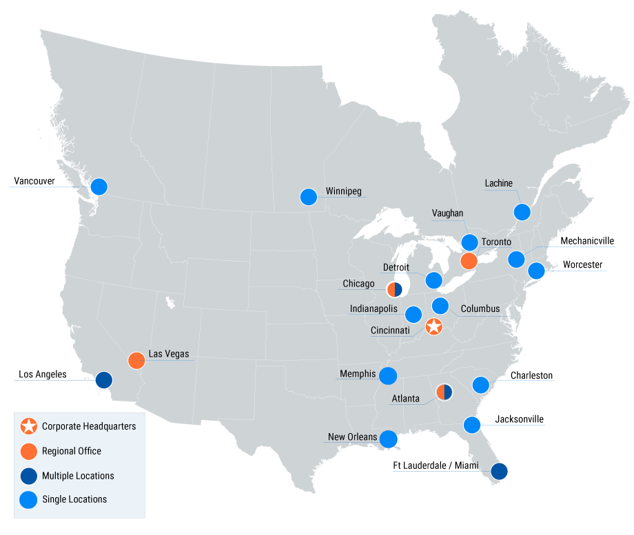 Parsec Location Map